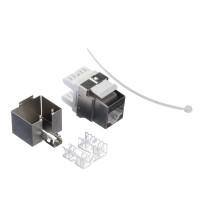 Модуль экр, RJ-45, cat.5е, 180°, под инстр, металлик, для патч-панели