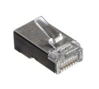 Коннектор RJ-45 (8p8c) cat.5е экранированный, для одножильного и многожильного кабеля. Netko