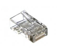 Коннектор RJ-45 (8p8c) cat.5е для одножильного и многожильного кабеля , Netko