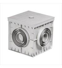 Коробка подземная пластиковая КПП-Р 300х300х300, глухая крышка зеленая