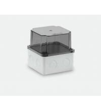 110x110x120 Распределительная коробка ABS, прозрачная крышка, HF, IP65