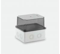 120x150x140 Распределительная коробка ABS, прозрачная крышка, HF, IP65