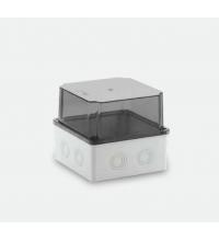 150x150x140 Распределительная коробка ABS, прозрачная крышка, HF, IP65