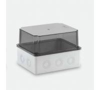 190x150x140 Распределительная коробка ABS, прозрачная крышка, HF, IP65